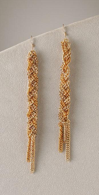 Kimberly Faith Long Braid Earrings