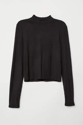 H&M Mock Turtleneck Top - Black