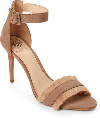 Vince Camuto Wild Mushroom Joshina Fringed High Heel Sandals