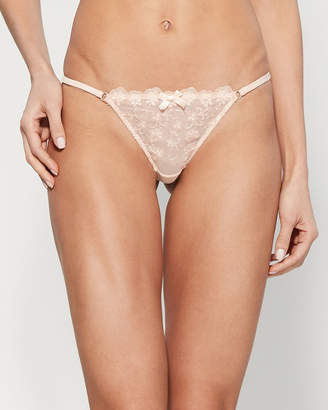 L'Agent by Agent Provocateur L'Agent By Agent Provocateur Nude Camilla Trixie Embroidered Thong