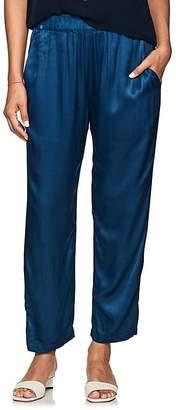 Raquel Allegra Women's Textured Satin Crop Pants