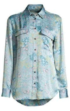 ... Equipment Signature Floral Satin Shirt 1443f5595