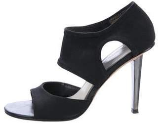 Via Spiga Woven Cutout Sandals