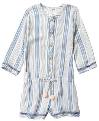 Jessica Simpson Stripe Pompom Romper (Little Girls)