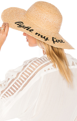 Hat Attack Light My Fire Sunhat in Tan. $115 thestylecure.com