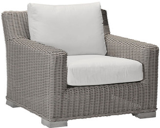 Summer Classics Inc Rustic Oyster Club Chair - White - SUMMER CLASSICS INC