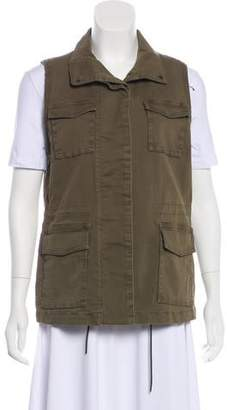 J Brand Collared Button-Up Vest w/ Tags