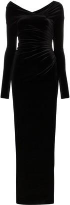 Alexandre Vauthier velvet side-slit gown