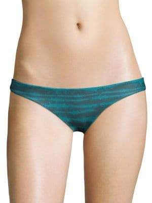 Mikoh Zuma Stripe-Print Bikini Bottom