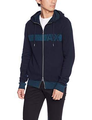 Armani Exchange A|X Men's Cotton Hooded Zip-Up Sweater