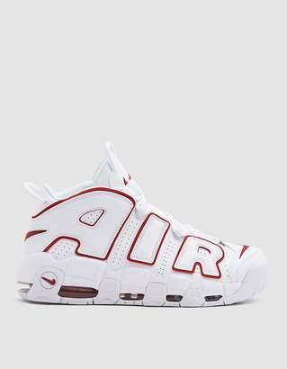 Nike Air More Uptempo '96 Sneaker in White/Varsity Red