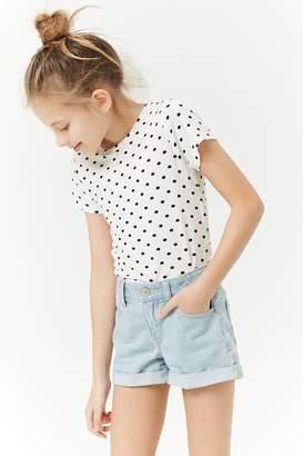 Forever 21 Girls Pinstriped Denim Shorts (Kids)