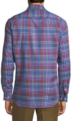 Tailorbyrd Men's Long-Sleeve Plaid Woven Sport Shirt
