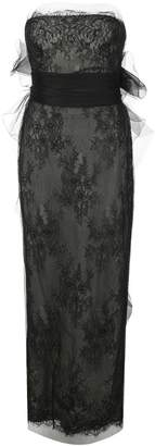 Marchesa Chantilly lace tube gown