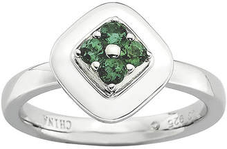 JCPenney FINE JEWELRY Personally Stackable Lab-Created Emerald Flower Cluster Ring