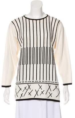 Ballantyne Geometric Intarsia Cashmere Sweater