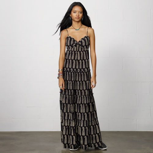 Denim & Supply Ralph Lauren Ruched Cotton Mina Maxidress