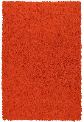 Ebern Designs Baugh Shag Chenille Orange Area Rug Rug