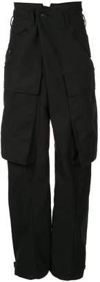 Julius high waist drop crotch cargo pants