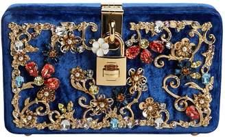 Dolce & Gabbana Blue Velvet Clutch Bag