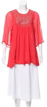 Tolani Embellished Short Sleeve Blouse