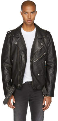 BLK DNM Black Leather Classic 5 Biker Jacket