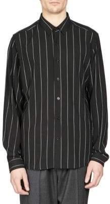 Ami Button Down Striped Shirt
