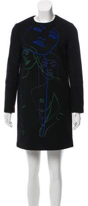 Stella McCartney Embroidered Long Sleeve Dress