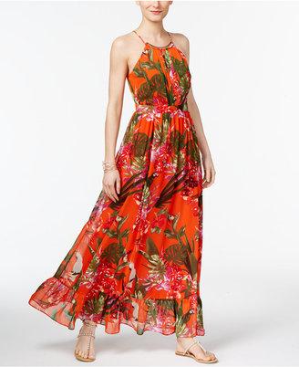 Inc International Concepts Flounce-Hem Maxi Dress, Only at Macy's $119.50 thestylecure.com