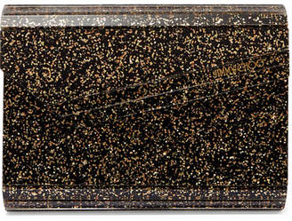 Jimmy Choo Candy Glittered Acrylic Clutch - Black