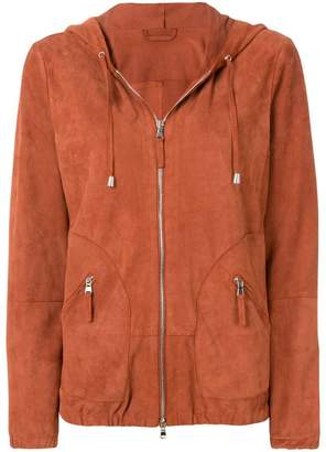 Eleventy zipped hooded jacket