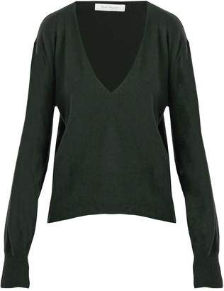 Roche RYAN Deep V-neck cashmere sweater