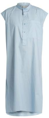 Balenciaga Cotton Poplin Sleeveless Dress - Womens - Light Blue