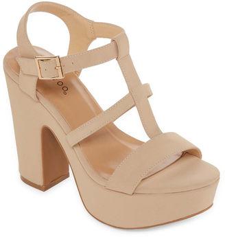 Bamboo Sandbar 29m Womens Heeled Sandals $50 thestylecure.com