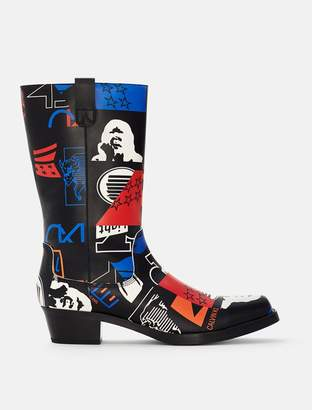 Calvin Klein graphic leather boot