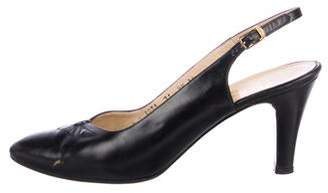 Salvatore Ferragamo Leather Slingback Pumps