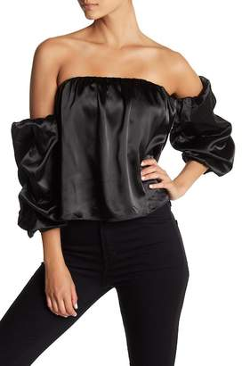 Know One Cares Off-the-Shoulder Puff Sleeve Top
