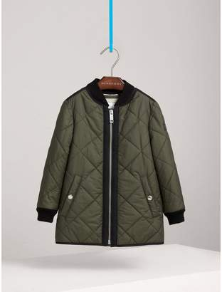 Burberry Quilted Cotton Blend Coat