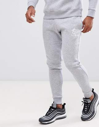 Gym King skinny joggers in gray marl with logo