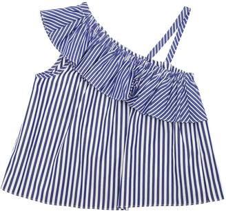 Milly Minis Striped Cotton Poplin Top