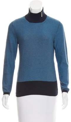 Malo Stripe Turtleneck Sweater