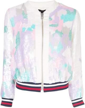 Cynthia Rowley Naomi embellished bomber jacket
