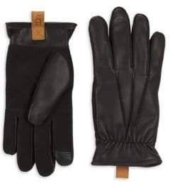 UGG Men's M3 Point Leather Gloves - Black - Size Large