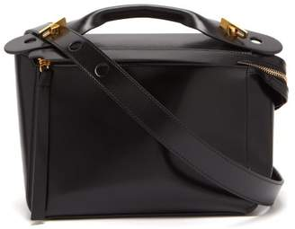 Sophie Hulme The Bolt Leather Box Bag - Womens - Black