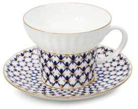 Imperial Porcelain Two-PieceWave Porcelain Teacup & Saucer Set