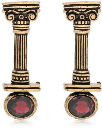 Alcozer & J Capital Column Earrings With Garnets