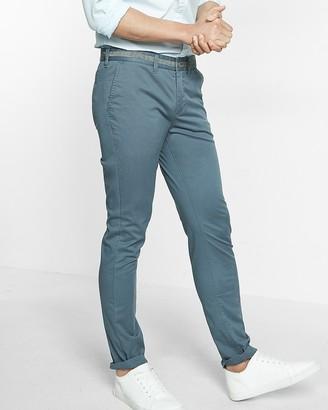 Express Skinny Chambray Trim 365 Comfort Stretch+ Chino Pant