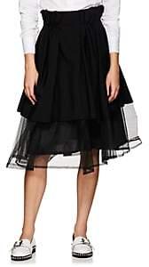 Noir Kei Ninomiya Women's Tulle Layered Full Skirt - Black