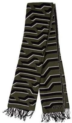 Kenzo Patterned Wool Scarf w/ Tags