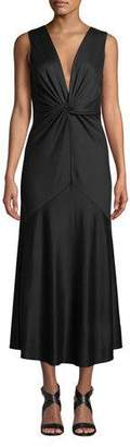 Diane von Furstenberg Baila Twist-Front Sleeveless Cocktail Dress